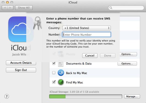 Ajout d'un numéro de téléphone pour les alertes SMS.