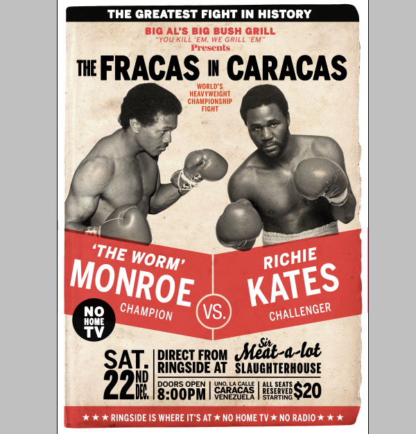 create a retro boxing poster in photoshop
