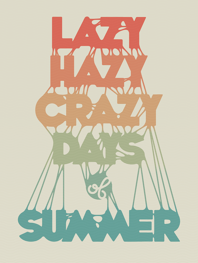 create a sticky summer typography
