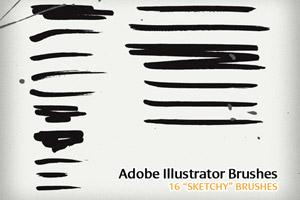 16 Sketchy Illustrator Brushes