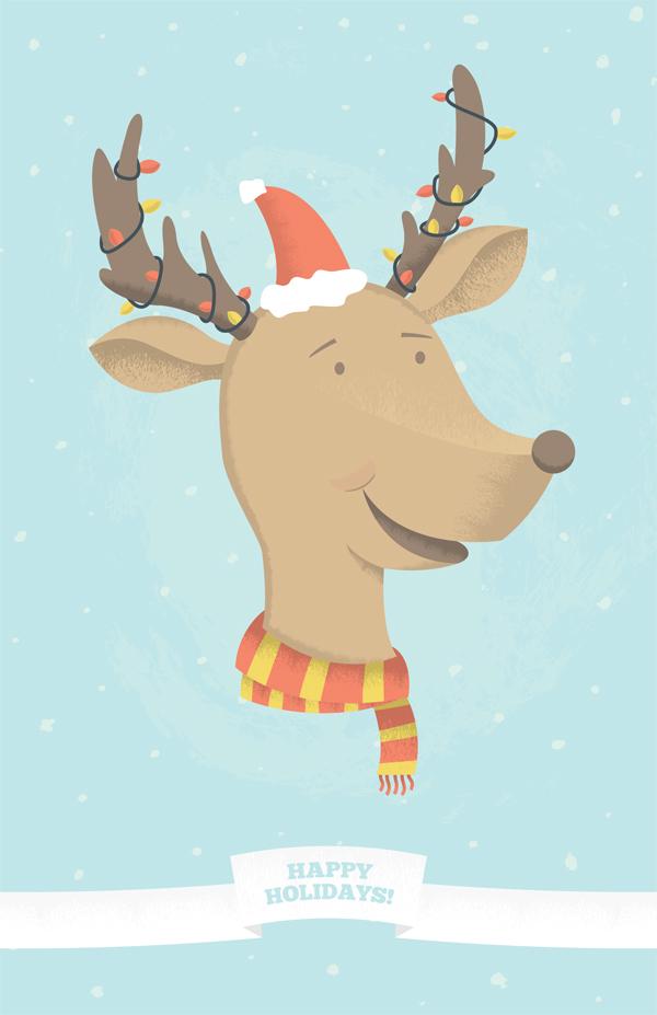 Make A Fun Holiday Reindeer Illustration