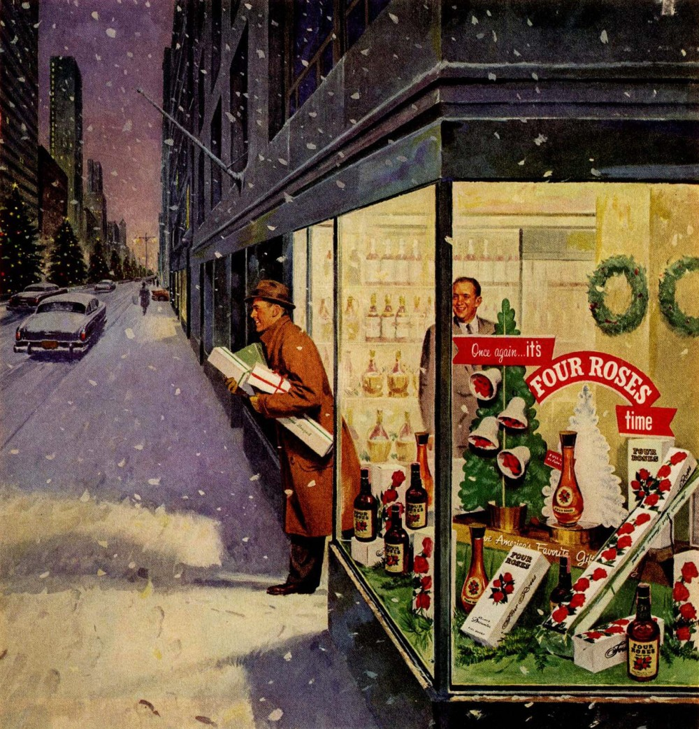 Inspiration Retro Christmas Advertisements From Mid