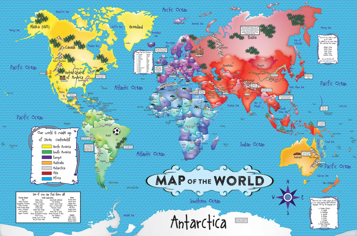World Map Floor Puzzle Jigsaw Puzzle