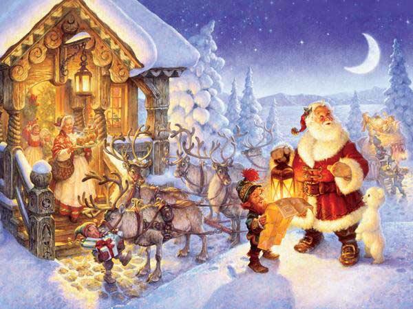 Santa At The North Pole Jigsaw Puzzle
