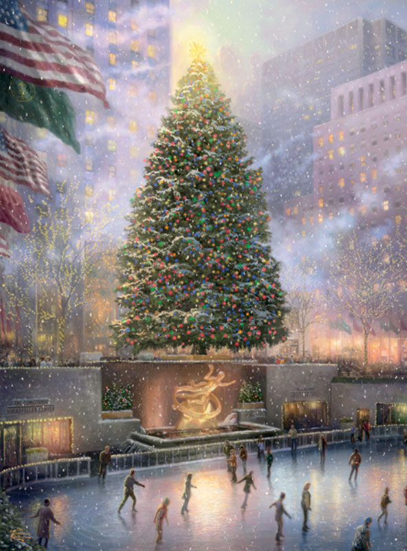 Rockefeller Center Tree Jigsaw Puzzle