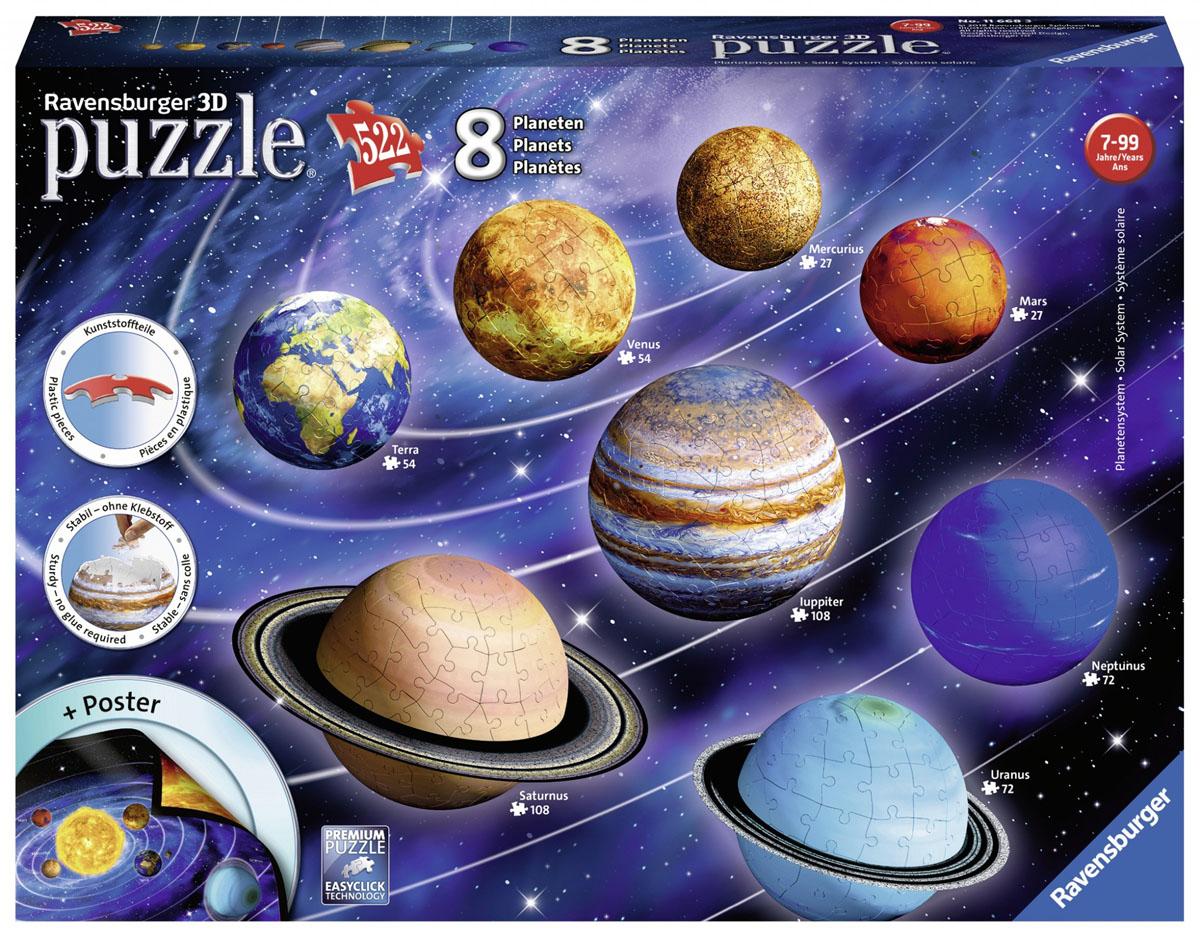 3d Solar System Pieces Vary Ravensburger