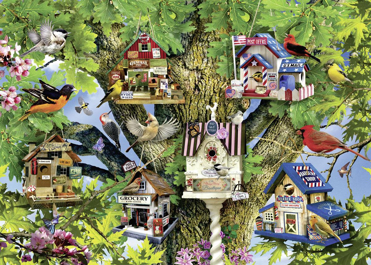 Bird Village Jigsaw Puzzle