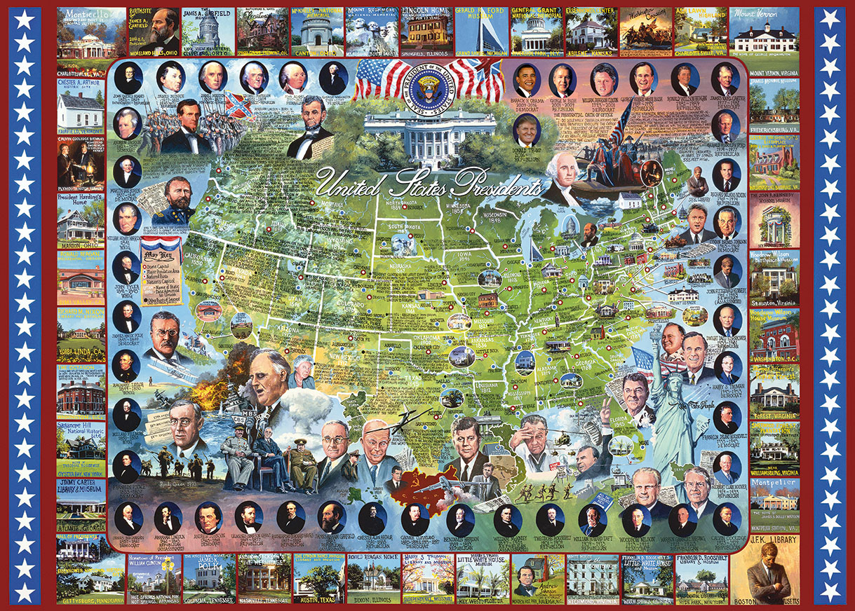 United States Presidents Jigsaw Puzzle