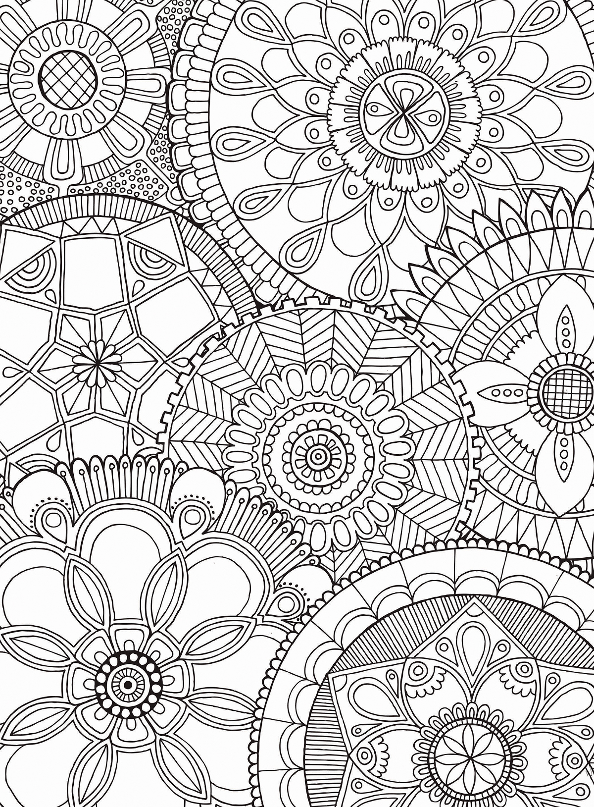Mandala Collage Jigsaw Puzzle