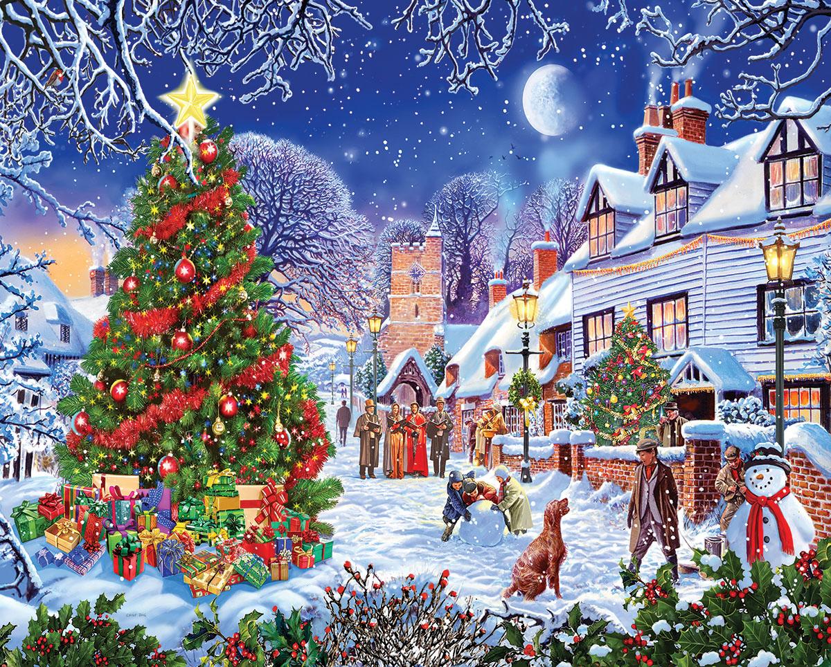 Village Christmas Tree Jigsaw Puzzle