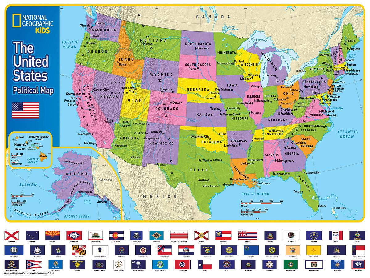 The Usa Kids Map Jigsaw Puzzle