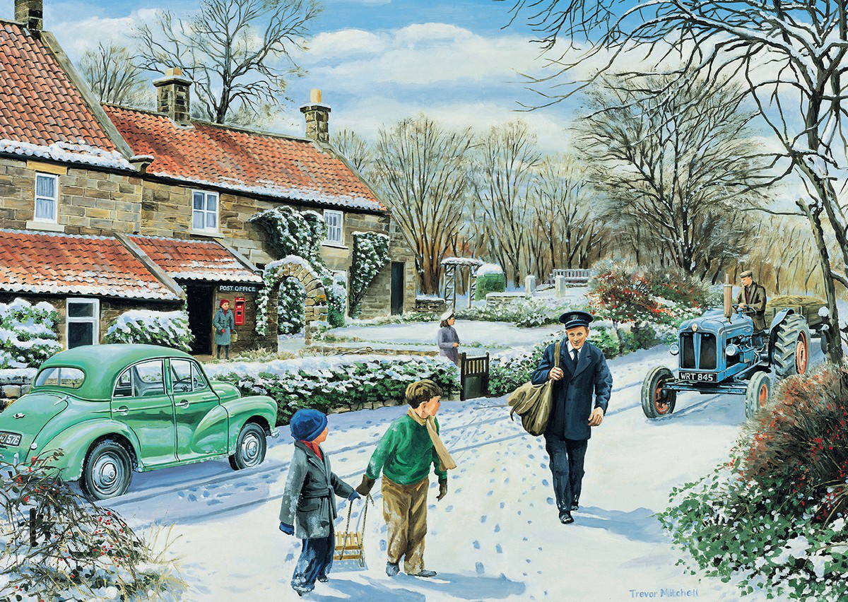 Winter Round Jigsaw Puzzle