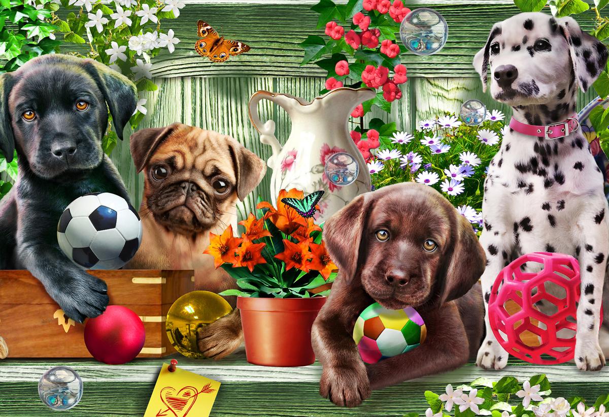Garden Puppies Jigsaw Puzzle
