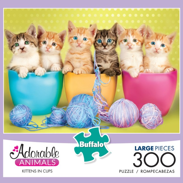 Kittens in Cups (Adorable Animals) Cats Jigsaw Puzzle