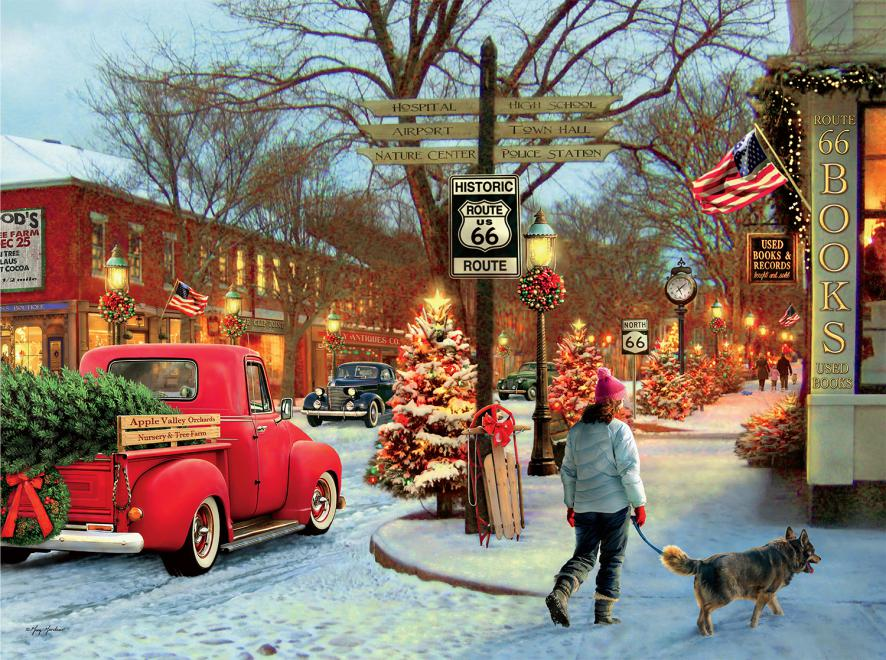 Route 66 Classic Christmas Jigsaw Puzzle