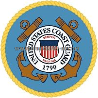 us coast guard thin ribbon rack