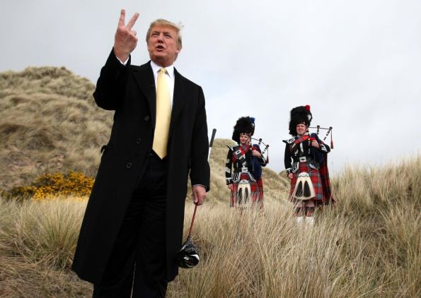Image result for Trump in Scotland