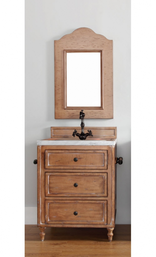 26 Inch Single Sink Bathroom Vanity In Driftwood Patina