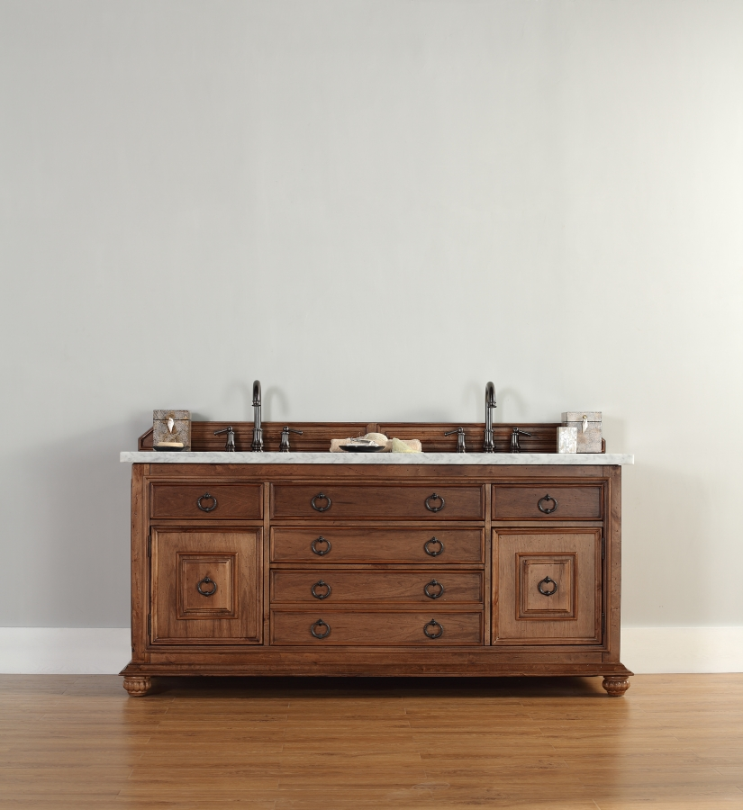 72 Inch Double Sink Bathroom Vanity With Hideaway Tip Out
