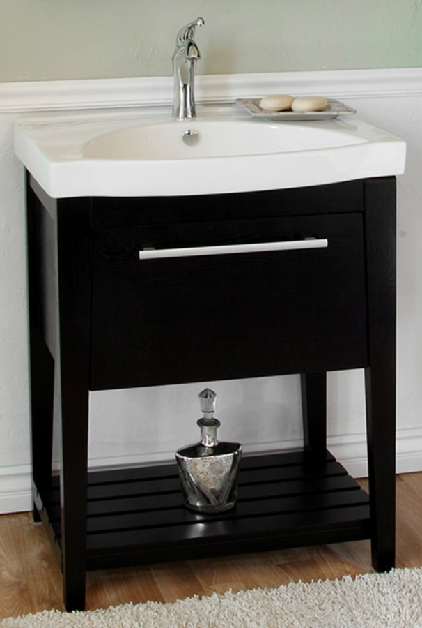275 Inch Black Single Sink Bathroom Vanity