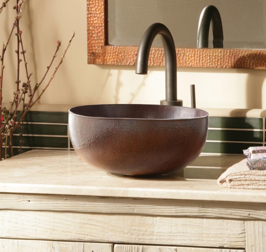 Antique Copper Vessel Bathroom Sink UVNTCPS266