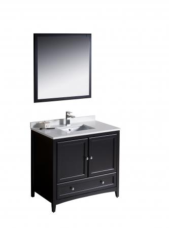 36 Inch Single Sink Bathroom Vanity In Espresso UVFVN2036ES36