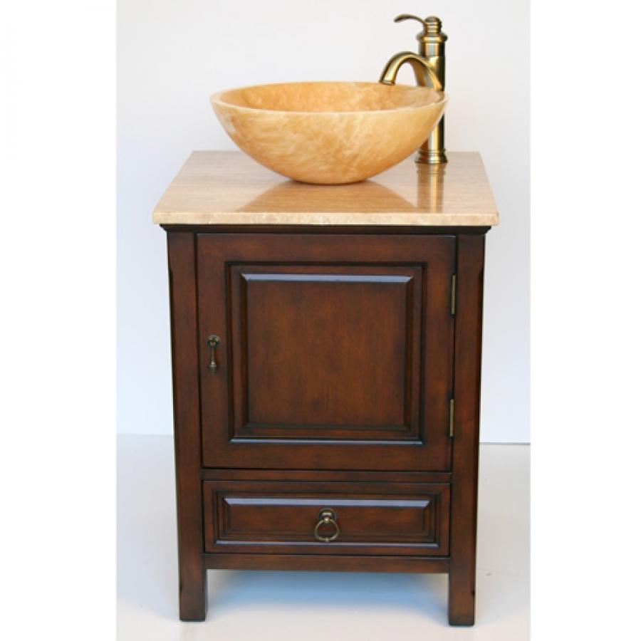 22 inch small travertine vessel sink bathroom vanity