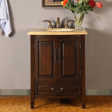 27 Inch Single Sink Vanity With Under Counter Led Lighting