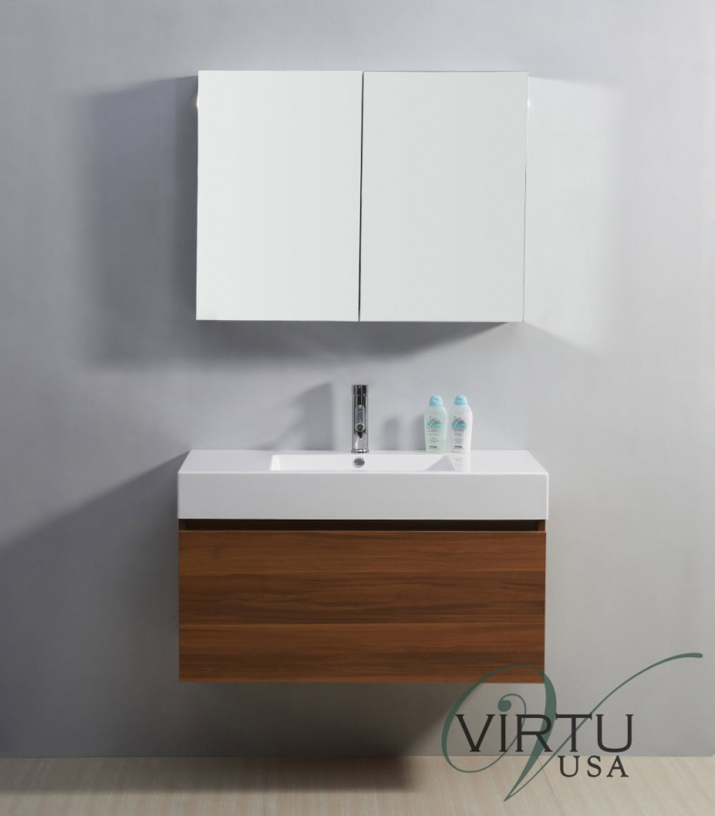39 Inch Single Sink Bathroom Vanity With A Hidden Drawer