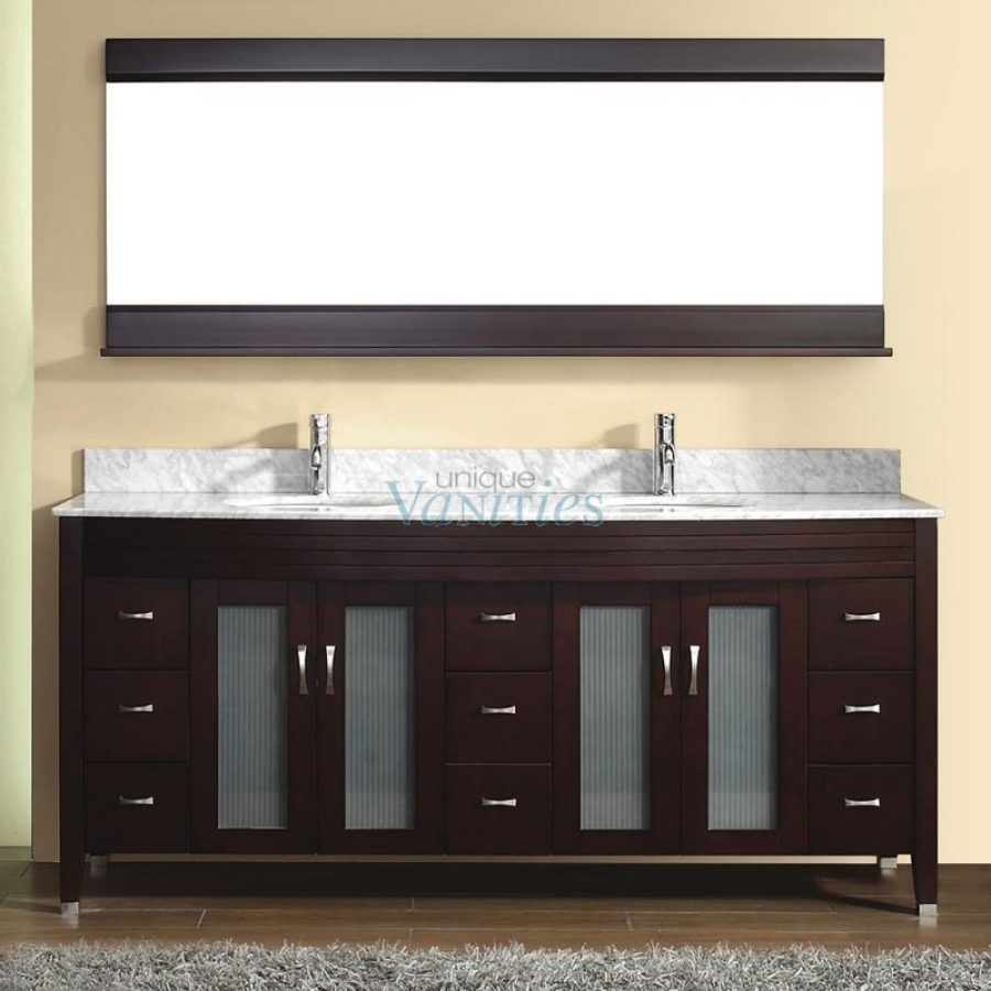 75 Inch Double Sink Bathroom Vanity With Choice Of Top In