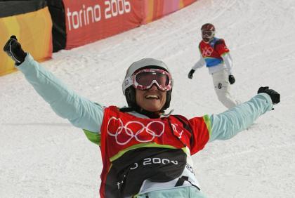 Die Thunerin Tanja Frieden wurde 2006 Olympiasiegerin.