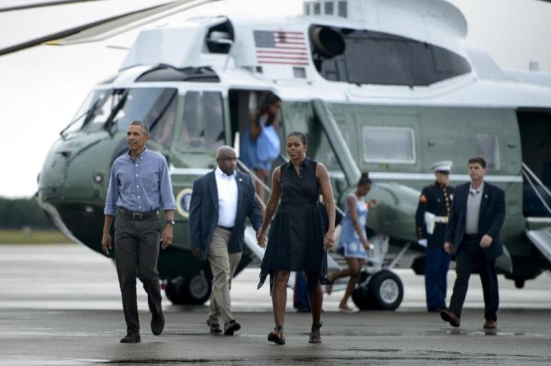 Even as president, Obama often spent his holidays with his family on the East Coast island.