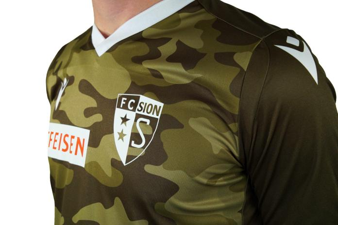 A new Jersey for the Super League: FC Sion presents his new away dress and is a Camouflage pattern not alone.