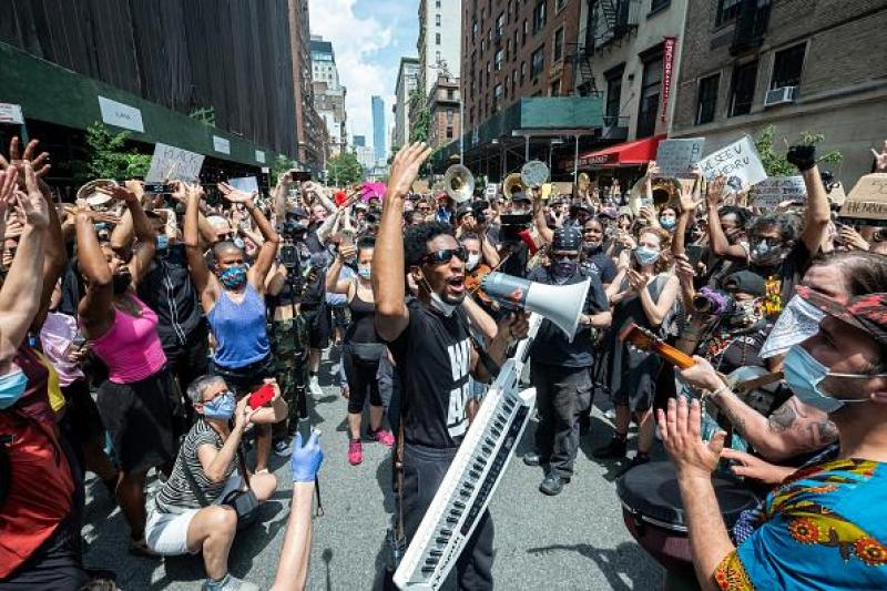 Thousands of people protested against police violence and racism in the metropolis last week.