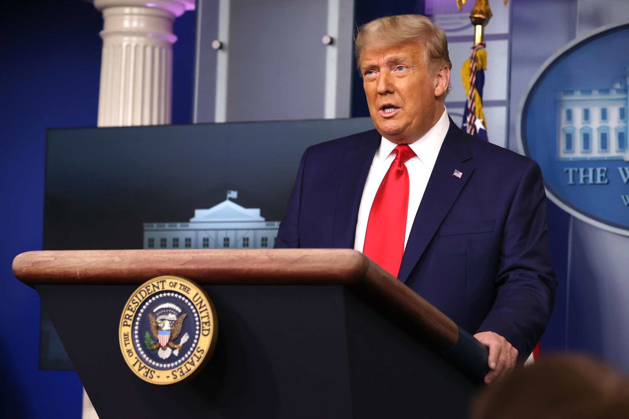 Donald Trump a dénoncé «une attaque odieuse» sur le Capitole, sans jamais évoquer sa responsabilité dans ce drame qui a terni l'image de l'Amérique à travers le monde.