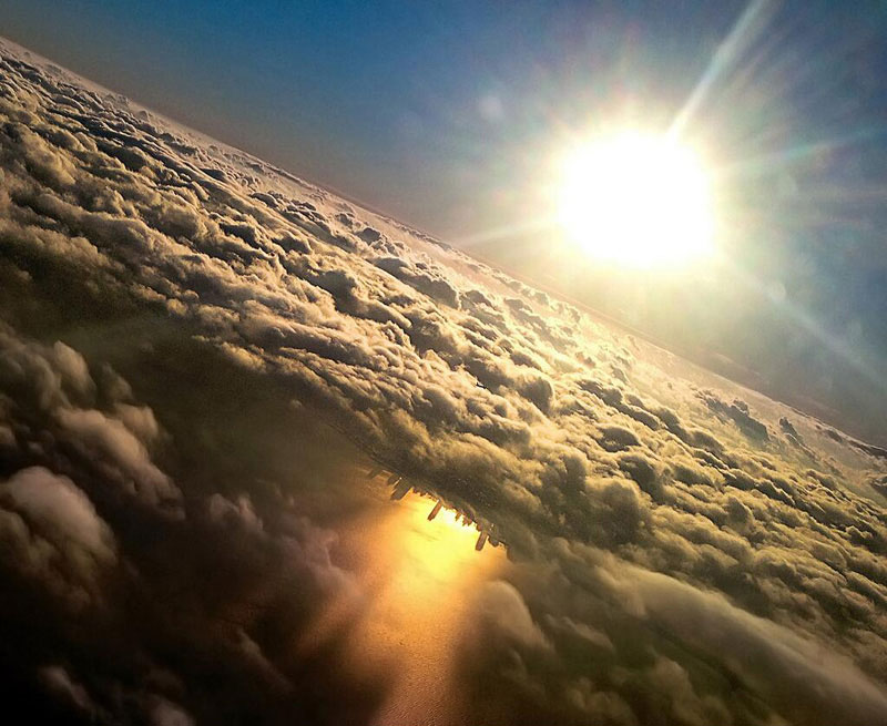chicago-reflected-in-lake-michigan-from-an-airplane-by-mark-hersch