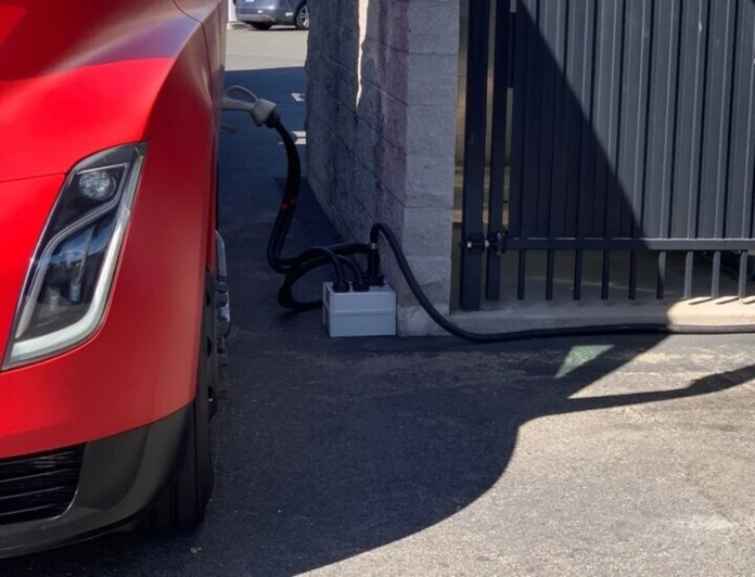 Tesla already installs the Megacharger charger designed for its future semi truck