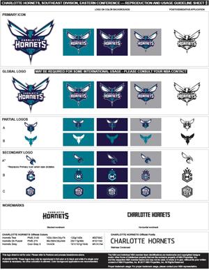 Charlotte Hornets Logo Sheet