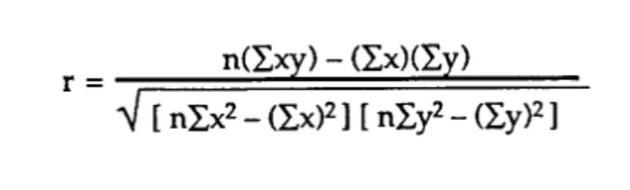 Пирсон.Формула.
