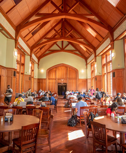 The dining hall at E. Bronson Ingram College (John Russell/Vanderbilt)