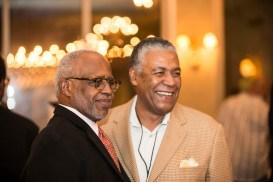 Vice Chancellor George C. Hill (left) and Godfrey Dillard