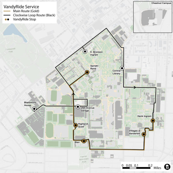 VandyRide Routes