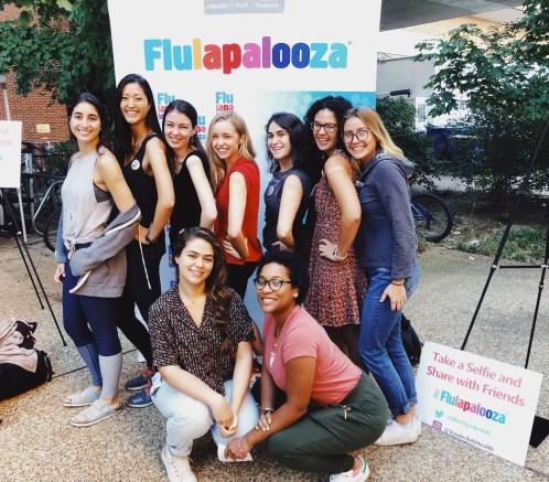 VU's annual Flulapalooza event, from Social 'Dore @heyhannahelise