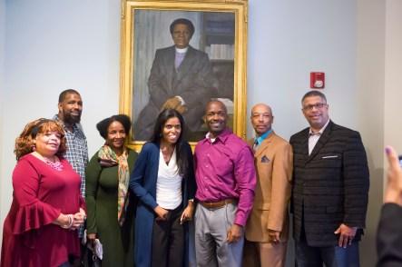 Vanderbilt Trailblazer Portrait Dedication of Bishop Joseph Johnson at the Bishop Joseph Johnson Black Cultural Center (Susan Urmy/Vanderbilt)