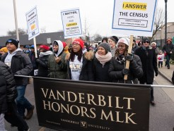 2020 MLK Day March in Nashville starting at Jefferson Street and finishing at TSU's Gentry Center. Vanderbilt students, faculty, staff, and administrators took part in the event commemorating Martin Luther King Jr. (Vanderbilt University/Joe Howell)