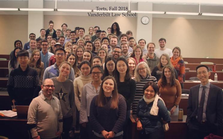 Ryan and his torts class at Vanderbilt Law School.