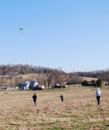 Reisner and his team running to reach the rocket at touchdown.