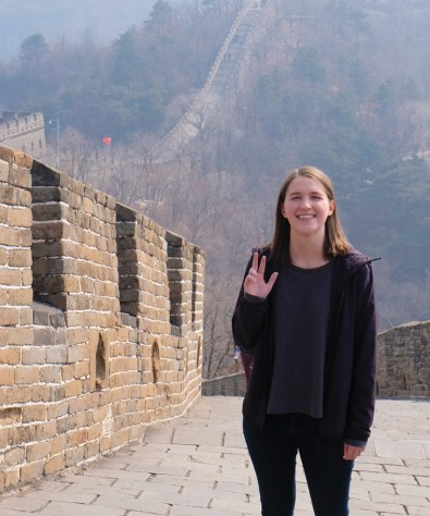 photo of Taylor on the Great Wall