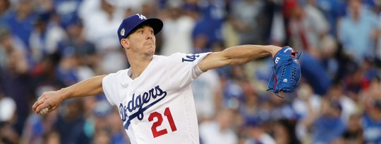 photo of Walker Buehler pitching