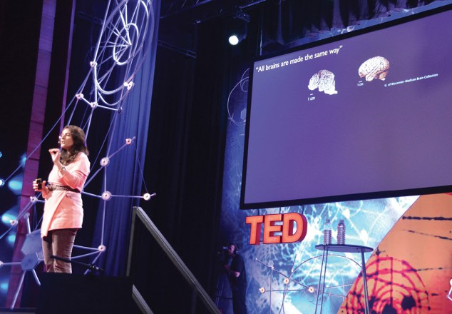 Onstage at TED Global in Edinburgh, Scotland, 2013.